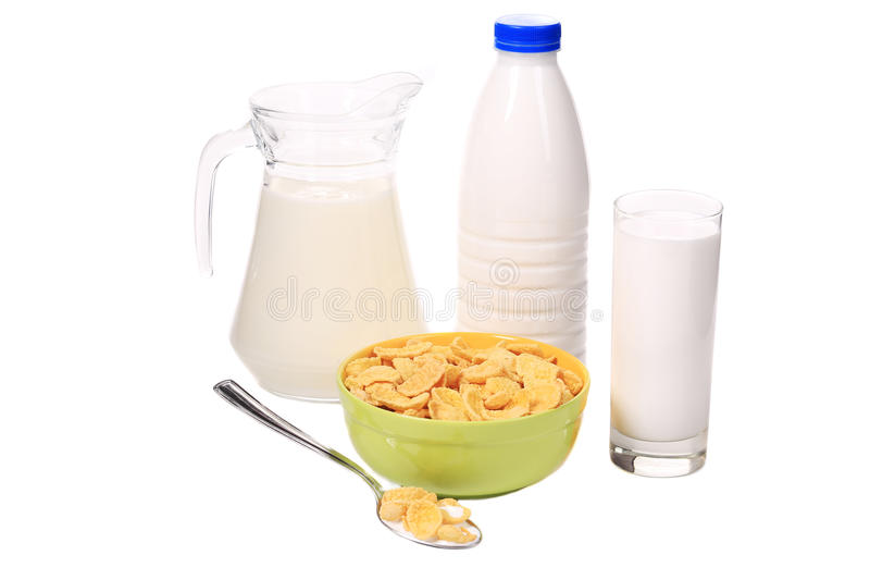 Café da manhã do cereal para crianças foto de stock