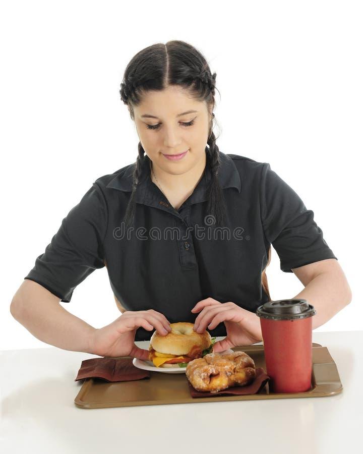 Café da manhã do fast food imagens de stock
