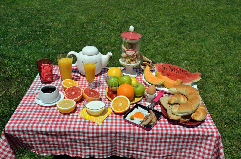 Café da manhã do piquenique fotos de stock royalty free