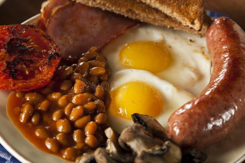 Café da manhã inglês completo tradicional foto de stock royalty free