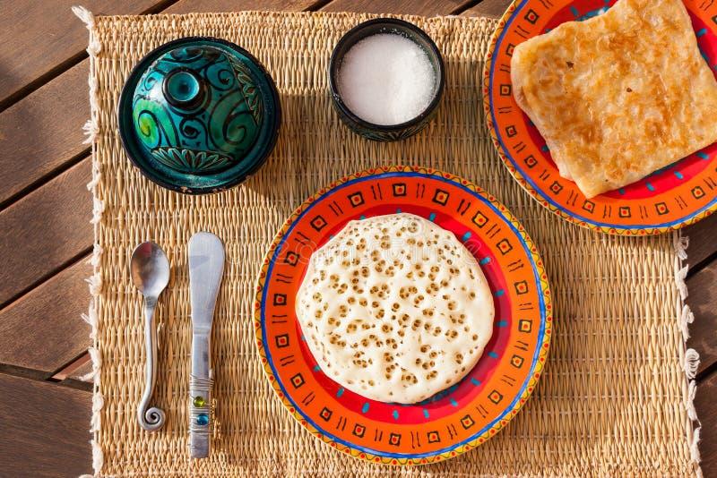 Café da manhã marroquino típico imagem de stock