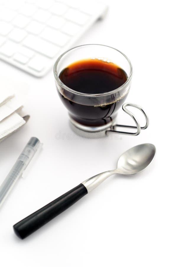 Café da manhã no copo de vidro fotografia de stock royalty free