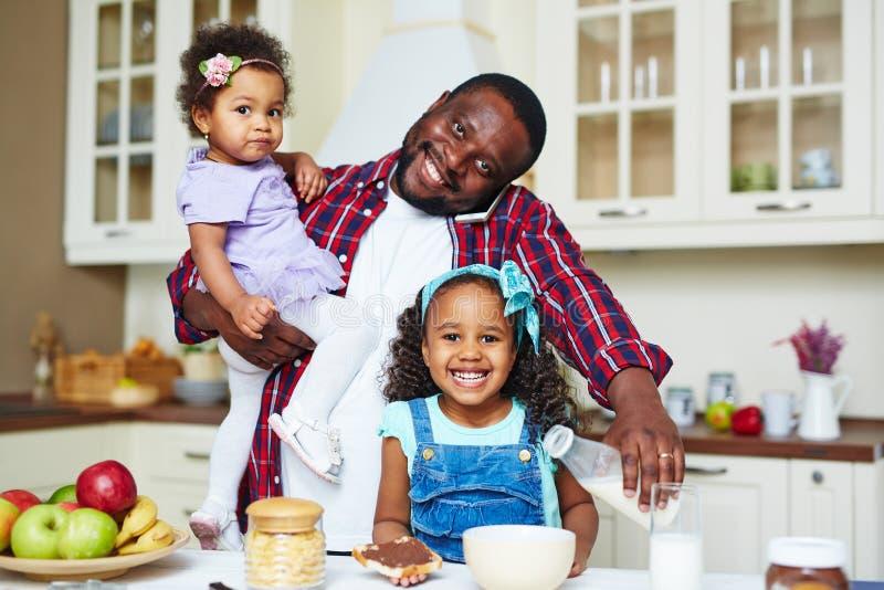 Café da manhã para crianças foto de stock