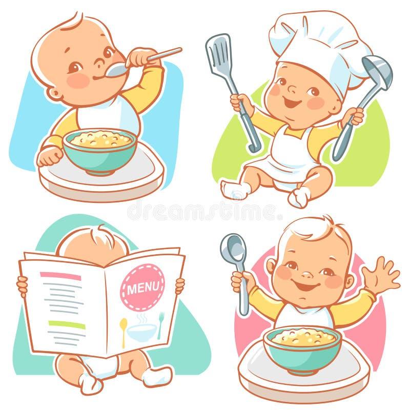 Café da manhã pequeno do bebê ilustração do vetor