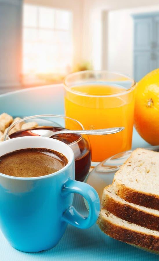 Café da manhã saudável com café imagem de stock