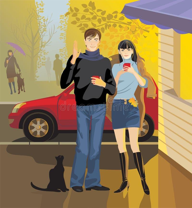 Café da rua ilustração royalty free