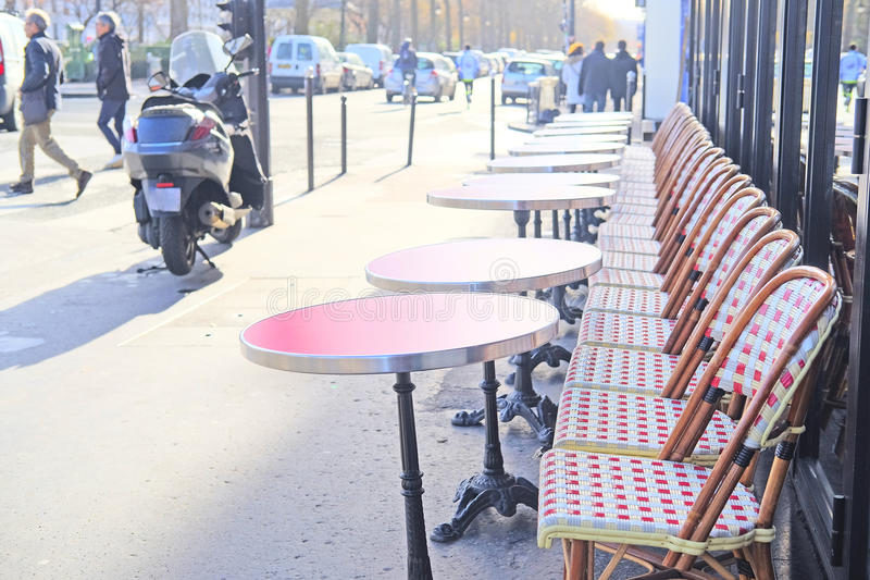 Café da rua em Paris fotos de stock royalty free