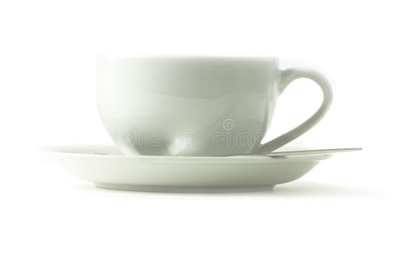 Café da vista lateral ou copo de chá imagem de stock royalty free