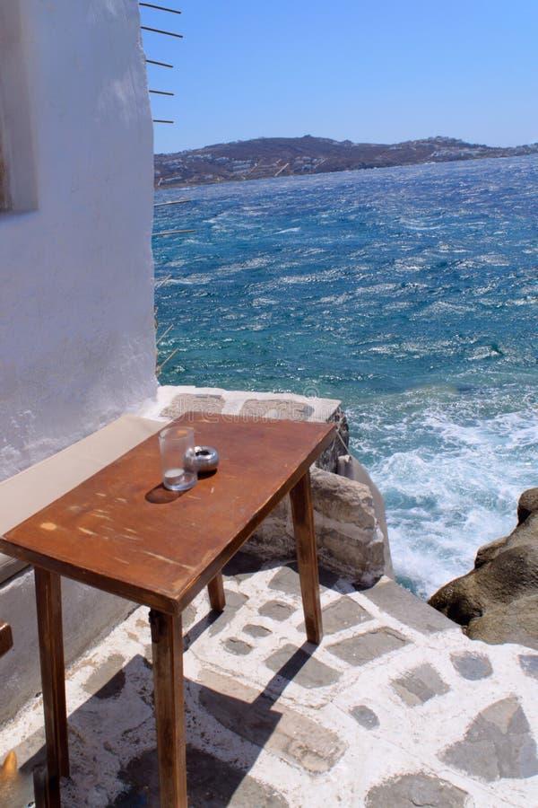 Café de bord de la mer photos libres de droits