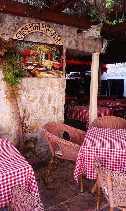 Café de Budva fotos de stock