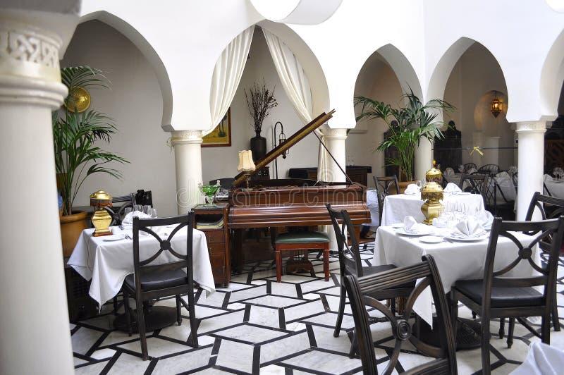 Café de Casablanca Rick fotografia de stock
