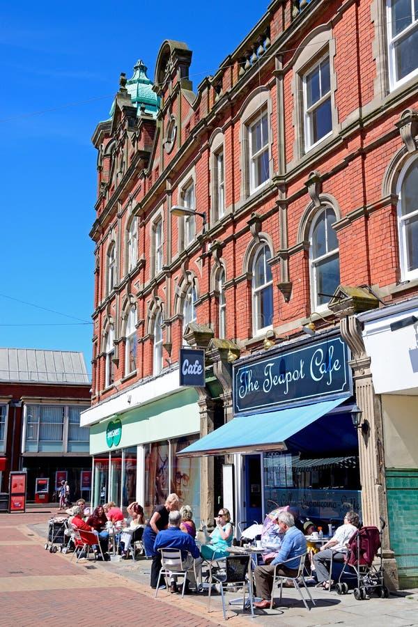 Café de centre de ville, Burton sur Trent photographie stock libre de droits