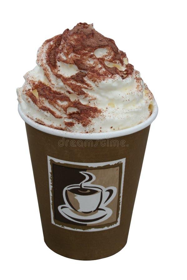 Café de creme chicoteado foto de stock