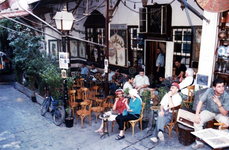 Café de Damasco fotografia de stock