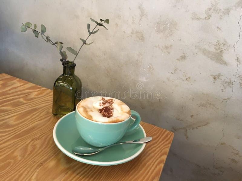 Café de Einspanner no café coreano imagem de stock