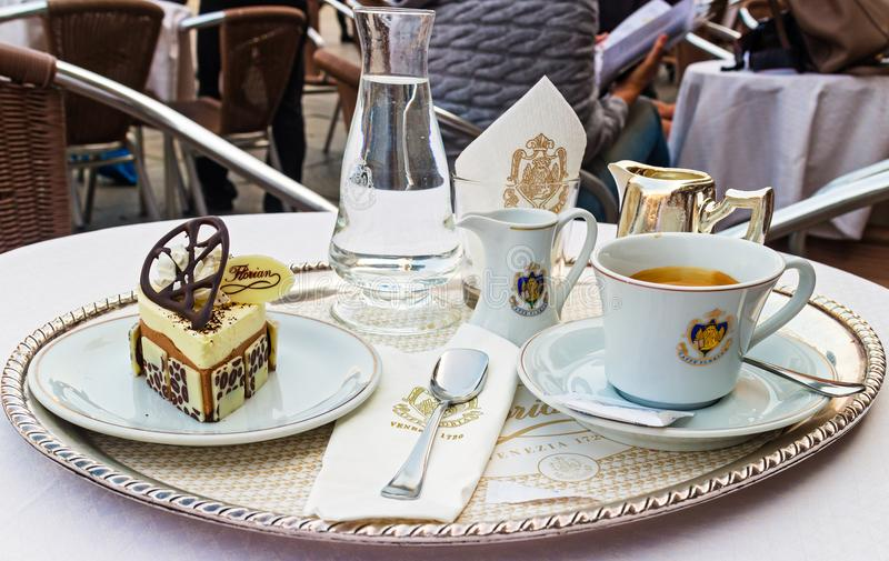 Café de Florian de café image stock