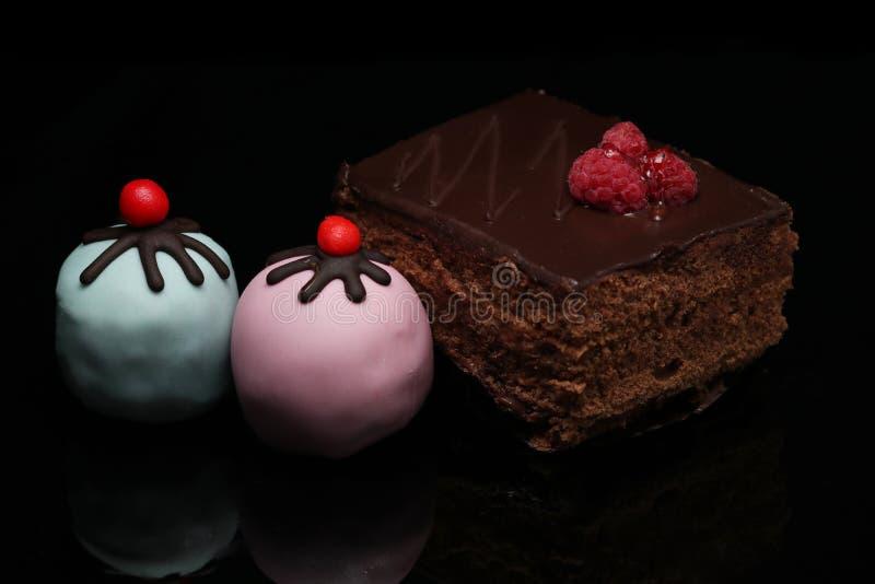 Café de gâteau images stock
