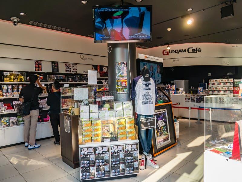 Café de Gundam, café officiel et magasin de Gundam au plaz de ville de plongeur image stock