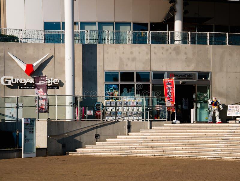 Café de Gundam, café oficial e loja de Gundam no plaz da cidade do mergulhador imagens de stock
