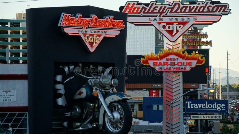 Café de Harley Davidson à Las Vegas photographie stock libre de droits