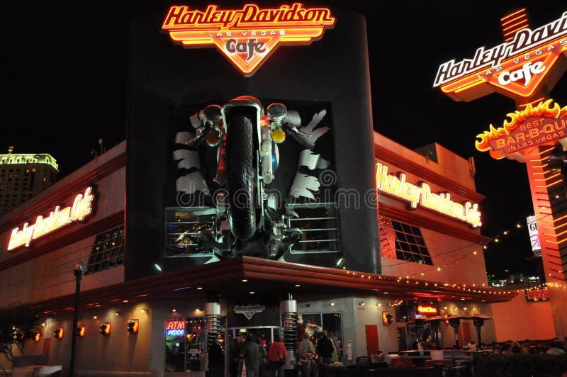 Café de Harley Davidson en Las Vegas foto de archivo libre de regalías