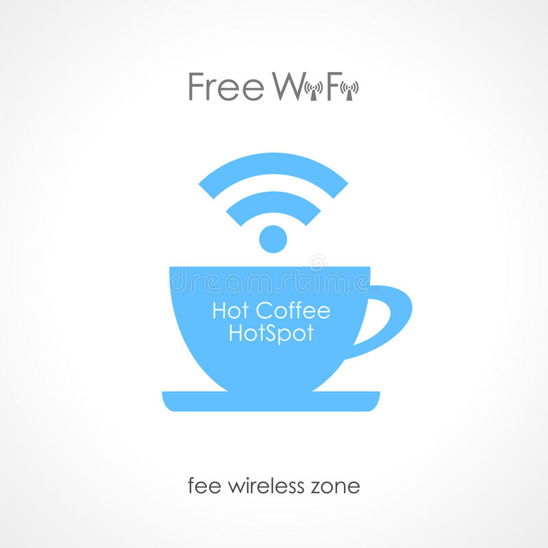 Café de Internet ilustración del vector