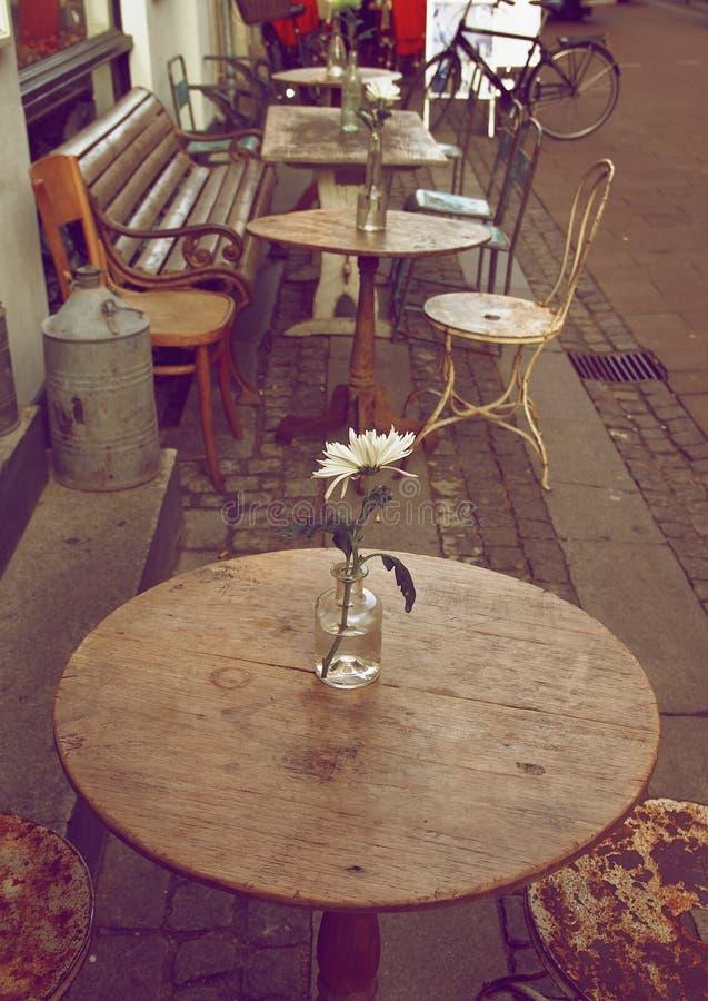 Café de la acera fotografía de archivo