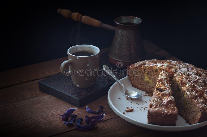 Café de la empanada de Apple fotos de archivo libres de regalías