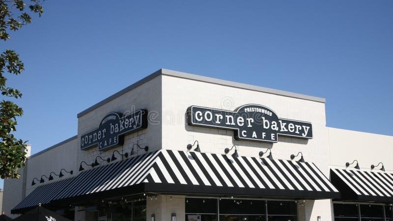 Café de la esquina de la panadería, Dallas Texas fotos de archivo libres de regalías