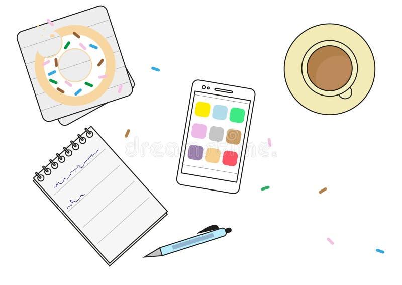 Café de la mañana ilustración del vector
