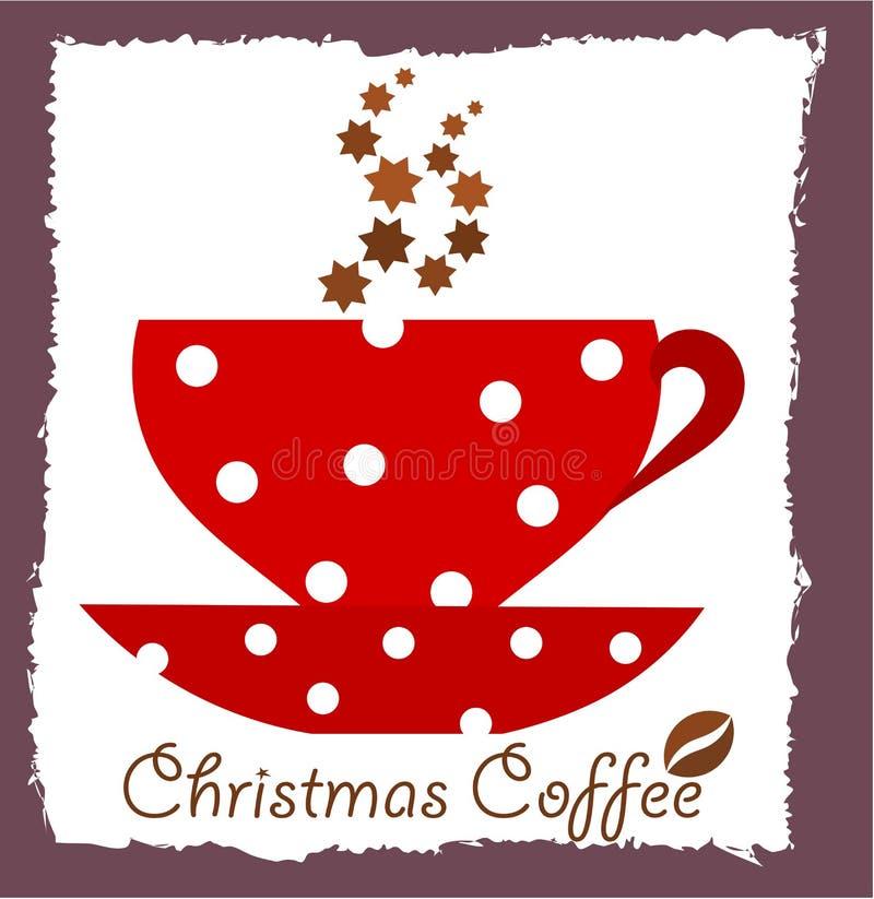 Café de la Navidad ilustración del vector