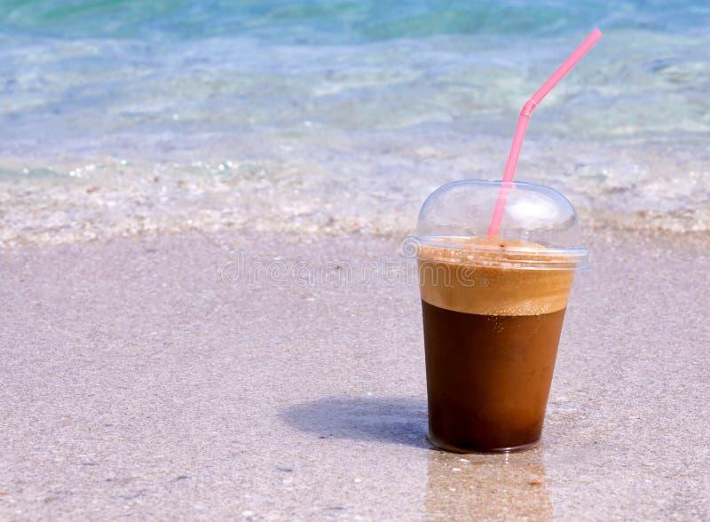Café de la playa fotografía de archivo