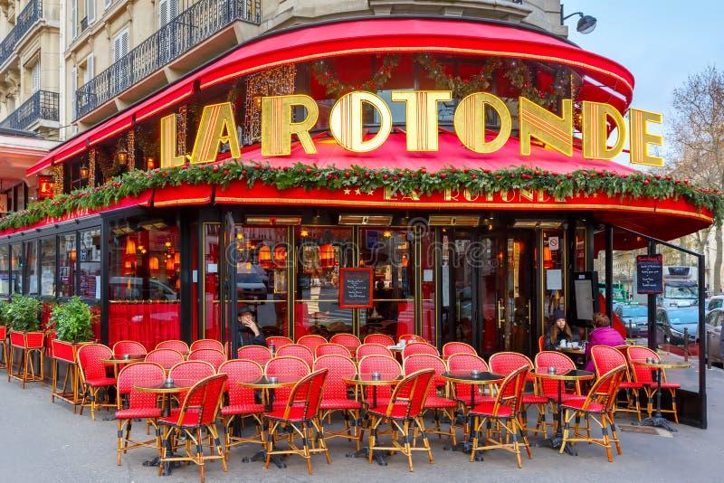 Café de la Rotonde em Paris, França foto de stock