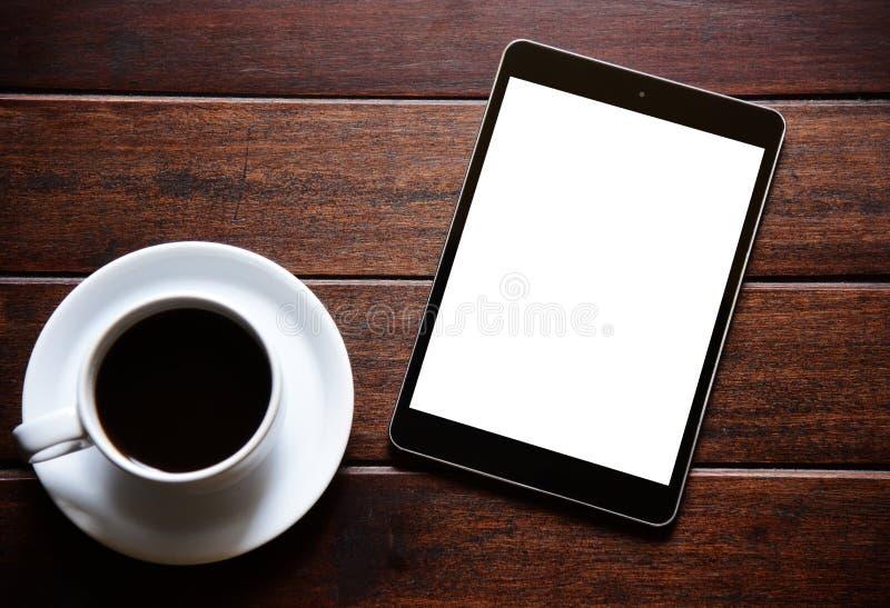 Café de la tableta y de la mañana foto de archivo libre de regalías
