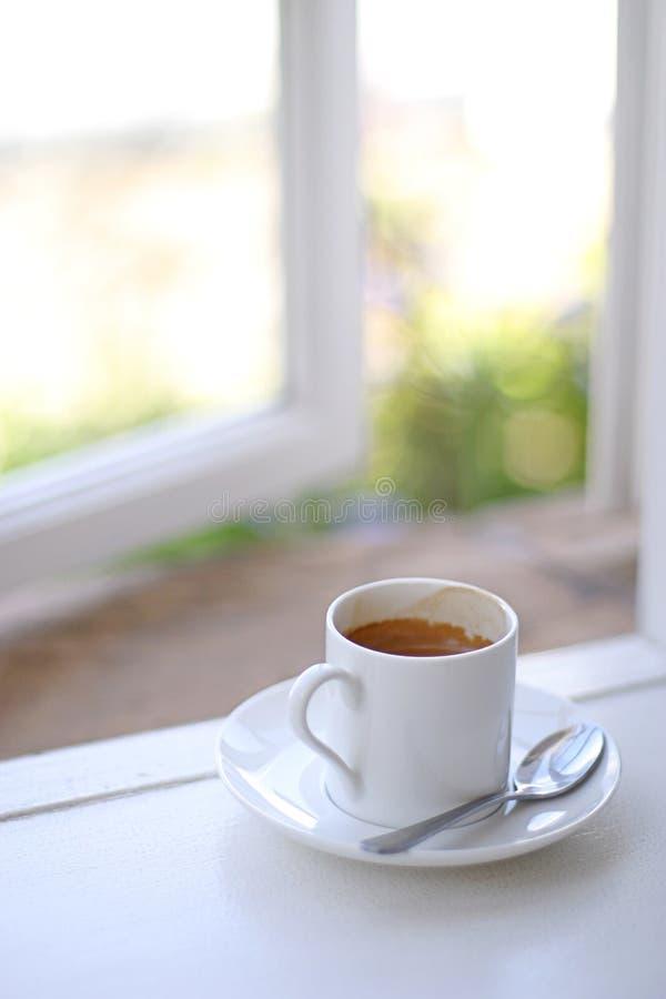 Café de la ventana fotos de archivo libres de regalías