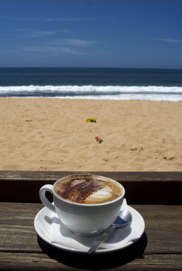 Café de las vacaciones de verano fotografía de archivo