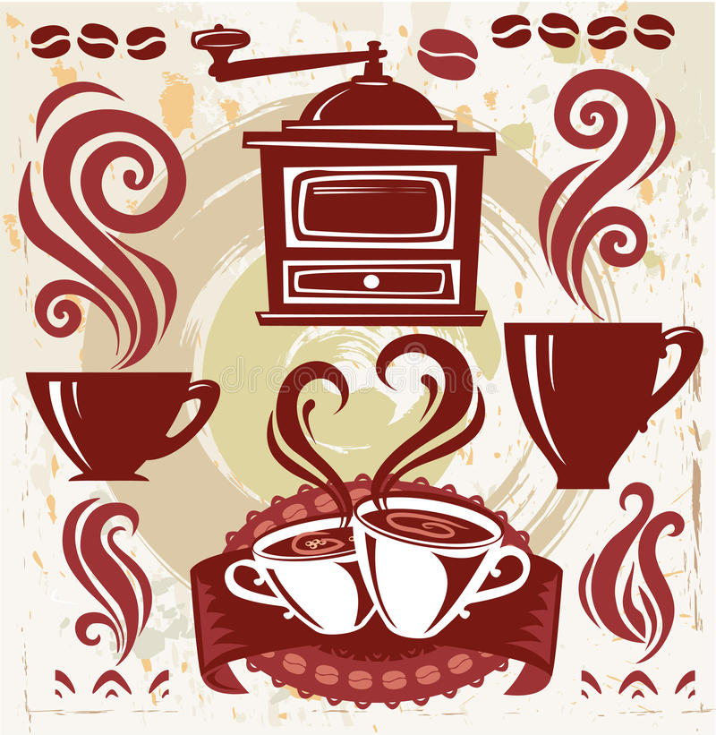 Café de los símbolos libre illustration