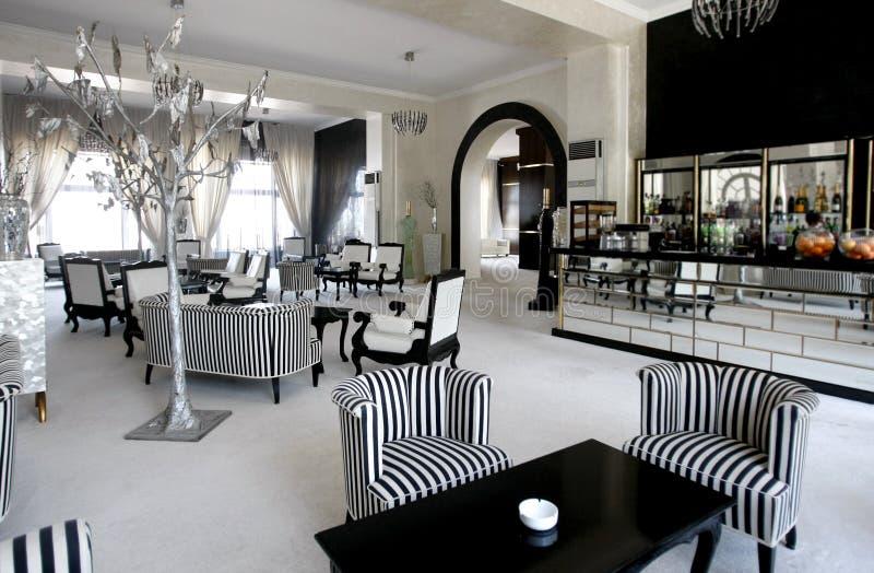 Café de lujo en hotel costoso foto de archivo
