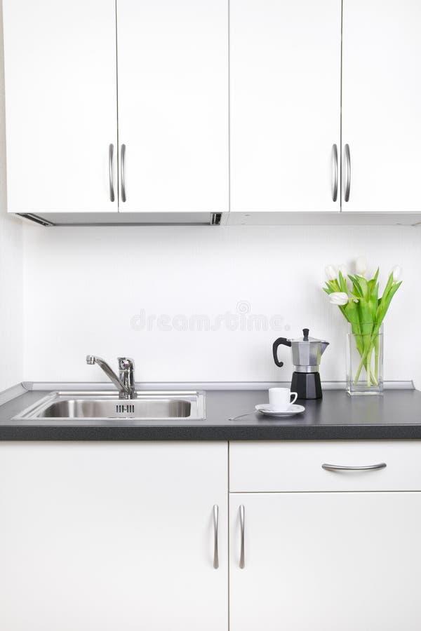 Café de matin, intérieur de cuisine photographie stock