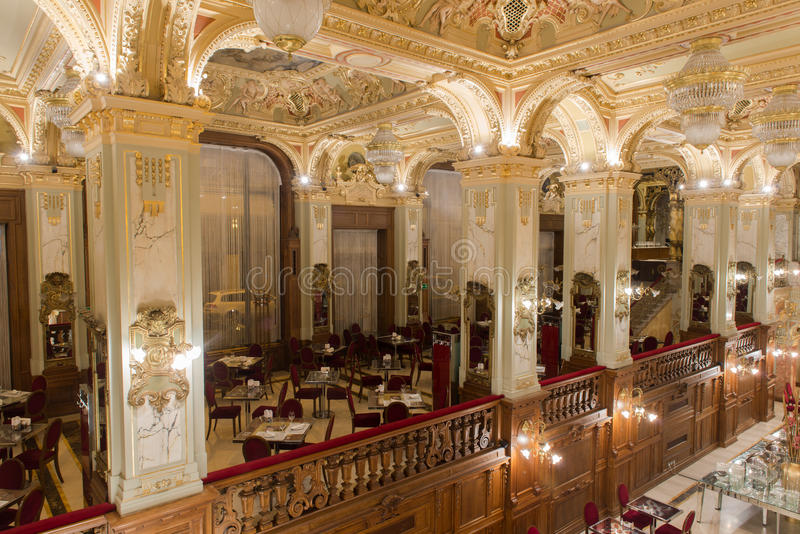 Café de New York - Budapest, Hongrie images libres de droits