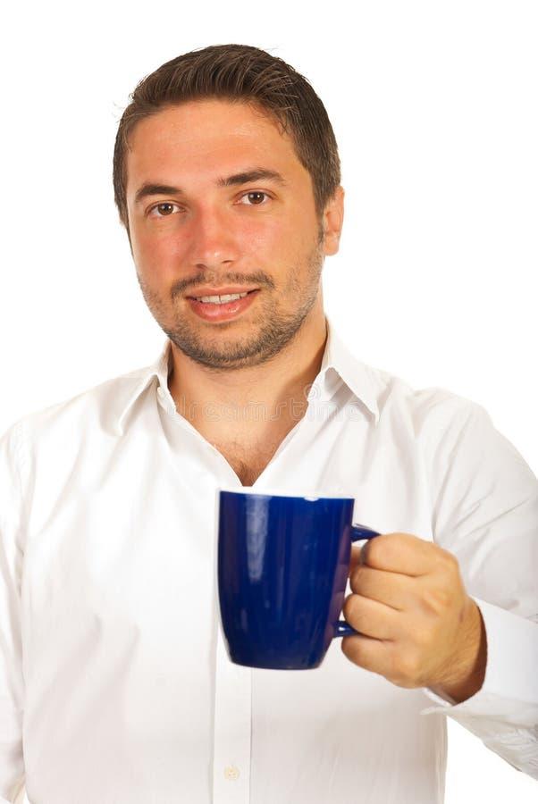 Café de offre d'homme d'affaires photos stock