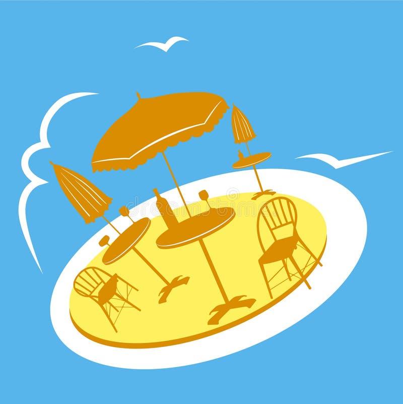 Café de plage illustration stock
