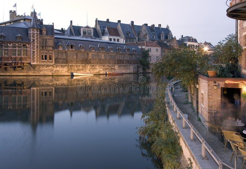 Café de rive de Gand images stock