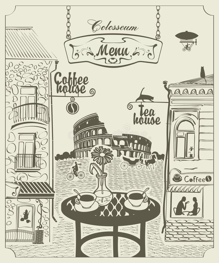 Café de Romes illustration libre de droits