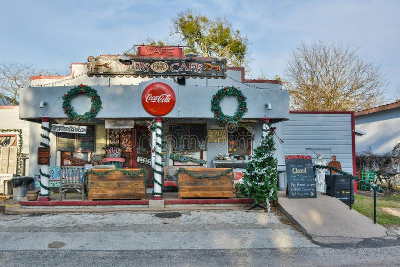 Café de Royers na parte superior redonda, TX imagens de stock royalty free