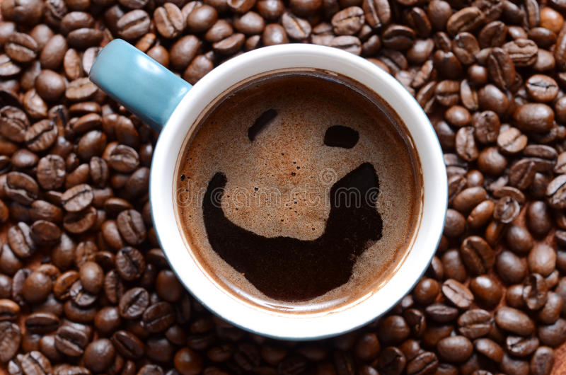 Café de sorriso foto de stock
