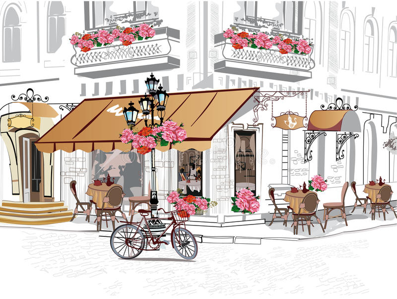 Café de Streeet libre illustration