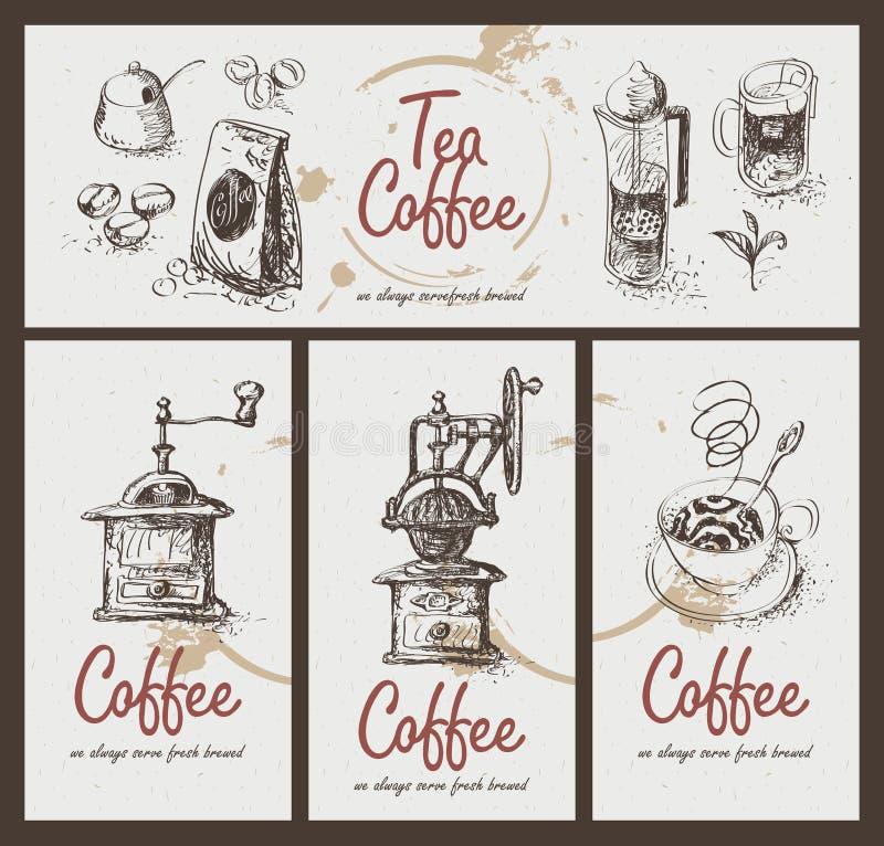 Café de thé illustration libre de droits
