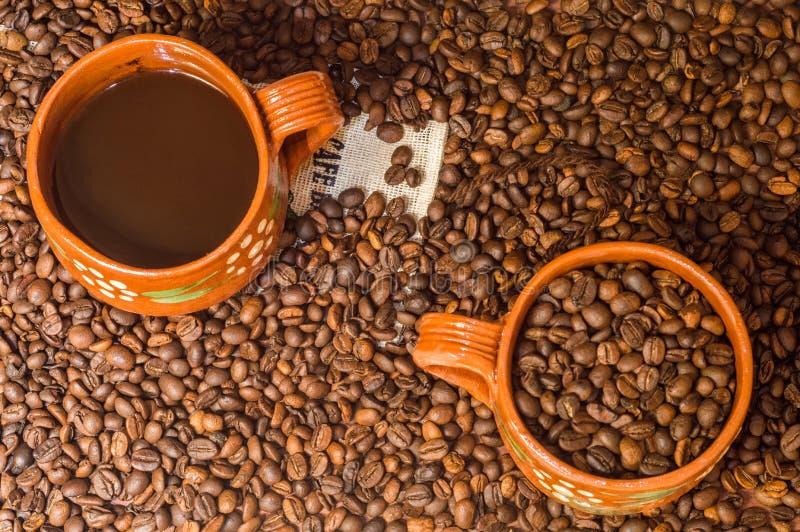 Café de Veracruz, Mexique, l'espace de copie images stock