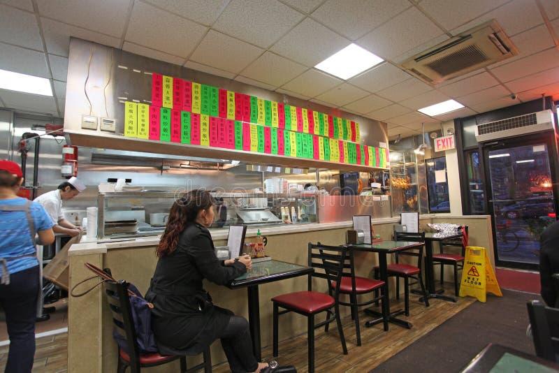 Café de ville de la Chine, NYC, Etats-Unis photos stock